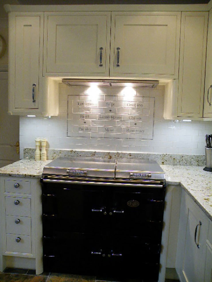 Wixford Painted Stoneham Kitchen Kitchen Tile And