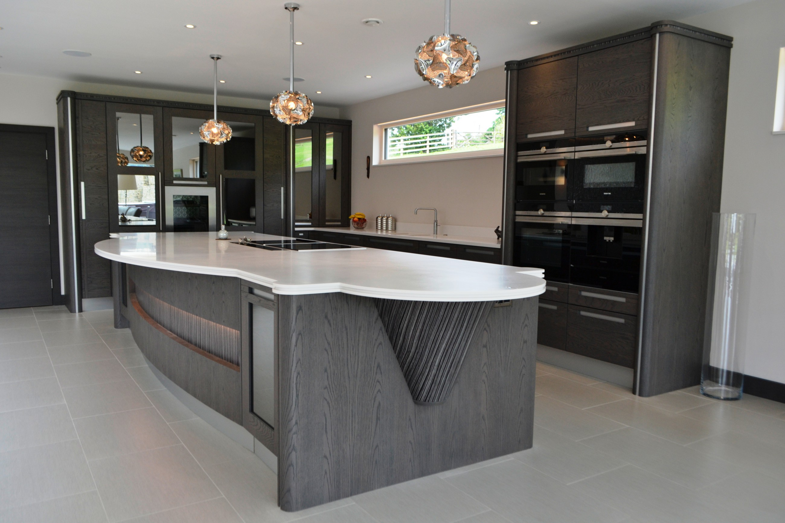 Stunning Stoneham Kitchen In Anthracite Oak With Black And
