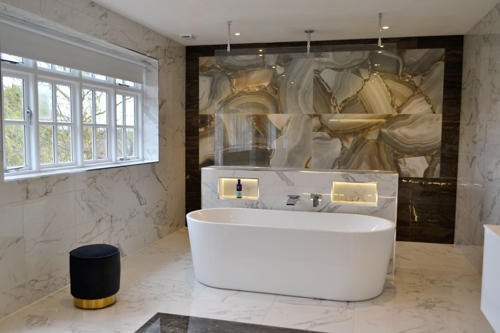 Feature Marble Tiles In Stunning Bathroom Kitchen Tile